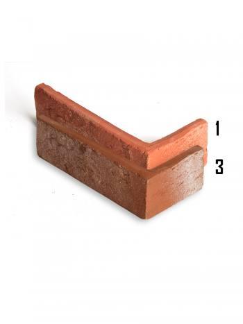 Rohový kus - tehlový obklad Rustik KD13